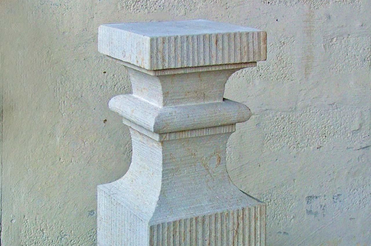 Baluster aus Sandstein